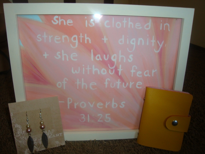 She also painted this for me with one of my favorite verses. Can you believe how talented she is?! You can check out more of her work at www.forestandtheseacreative.blogspot.com