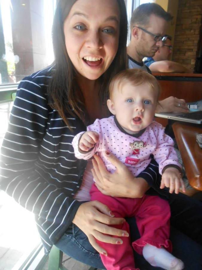 Syreah and I on one of the trips in the coffee shop across from the hospital.